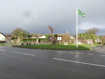 Picture of flag flying in Cheriton Bishop